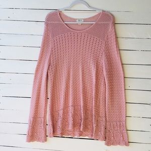 Style & Co crochet sweater